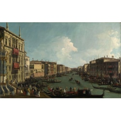Regatta on the Canale Grande,Canaletto,60x40cm multifärg