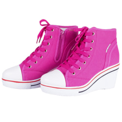 Rosa sneakers med klackarna Pink 35