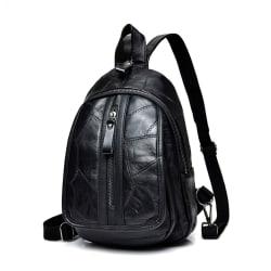 Ryggsäcken i äkta lammskinn, LAMM5902-2 Svart one size