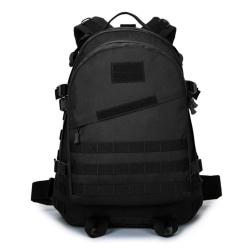Stor ryggsäcken i slitstark tyg, modell 2019-7226, 46x36x15 cm Svart one size