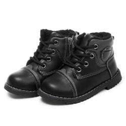Svarta barn skor i konstläder Black 19