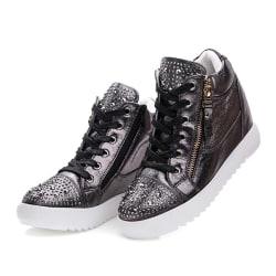 Svarta casual skor i konstläder Black 39