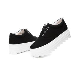 Svarta sneakers med 5 cm sulor Black 39