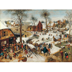 The Numbering at Bethlehem,Pieter Bruegel the Younger,50x37cm Brun