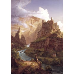 Valley of the Vaucluse,Thomas Cole,60x40cm