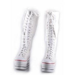 Vita sneaker med 35 cm höga skaft Vit