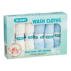 Tvättlappar Bambu 6-pack Blå