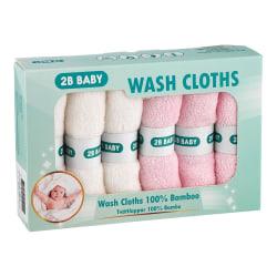 Tvättlappar Bambu 6-pack Rosa