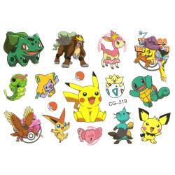 Pokemon 14 st barntatueringar tatuering pokémon