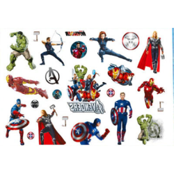 Avengers 15 st barntatueringar tatuering hulk iron man