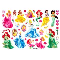 Disney Princess 16 st barntatueringar tatuering