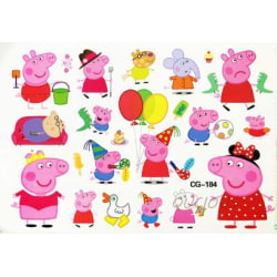 Peppa pig 16 st barntatueringar tatuering greta gris