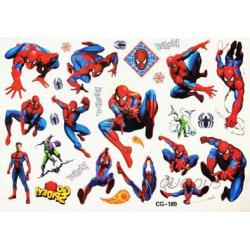 Spiderman 16 st barntatueringar tatuering avengers