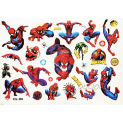 Spiderman 18 st barntatueringar tatuering avengers