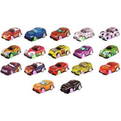 4 st små bilar med pull back-motor 5 cm småbilar cars