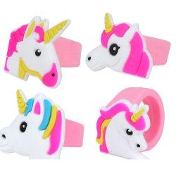 8 st unicorn mjuka ringar 2 cm x 3 cm