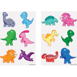 Baby dinosaurier 60 st barntatueringar tatuering dinosaurie