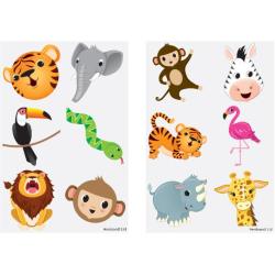 Djungeldjur 60 st barntatueringar tatuering djur