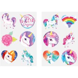 Unicorn 60 st barntatueringar tatuering enhörning