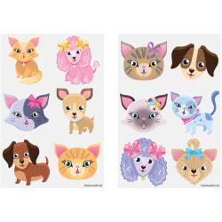 Hundar & katter 60 st barntatueringar tatuering hund katt