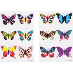 Fjärilar 60 st barntatueringar tatuering fjäril