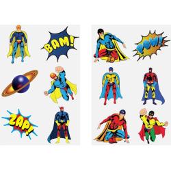 Superhjältar 60 st barntatueringar tatuering superhjälte