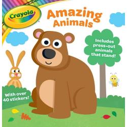 Crayola pysselbok med papp-djur och klistermärken