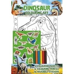 Dinosaurie pysselpaket pennor klistermärken pysselbok