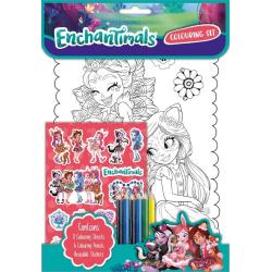 Enchantimals pysselpaket pennor klistermärken pysselbok