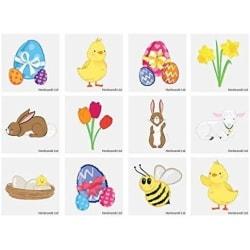 Påsk 60 st barntatueringar tatuering kyckling ägg