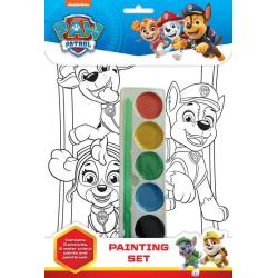 Paw patrol 8 sidor med vattenfärger pyssel