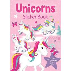 Målarbok unicorn med klistermärken
