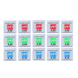 15-pack buffertpulver för pH-mätare 4.0/6.86/9.18