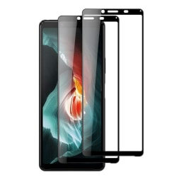 2-pack Skärmskydd härdat glas för Sony Xperia 10 II Svart