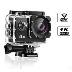 4K WiFi Actionkamera med stort tillbehörs-kit