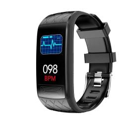 Aktivitetsarmband med EKG, hjärtfrekvens, blodtryck, blodsyre Black