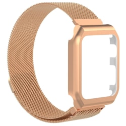 Apple Watch 1/2/3 armband med displayram Milanesisk loop 38 mm - Rosa