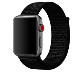 Armband för Apple Watch, 42 mm - Nylon kardborreband - svart