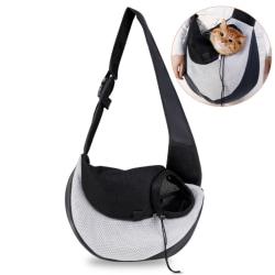 Axelremsväska för hund och katt - Svart och grå
