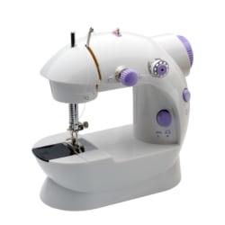 Bärbar mini-symaskin Vit/lila