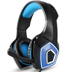 Bekvämt Gaming headset - Svart/blå
