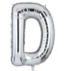 Bokstavsballong 53 cm, bokstav D - silver