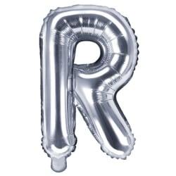 Bokstavsballong 53 cm, bokstav R - silver