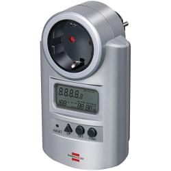 Brennenstuhl EL-mätare, driftskostnad, volt/watt, silver