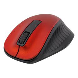 DELTACO trådlös optisk mus 2,4GHz, 3 knappar med scroll, röd Röd