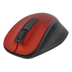 DELTACO trådlös optisk mus 2,4GHz, 3 knappar med scroll, röd