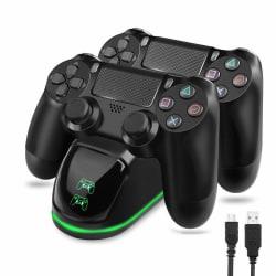 Dubbel laddstation för två kontroller - PS4/PS4 Slim/PS4 Pro Black