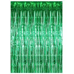 Festlig glittergardin 1x2 meter - Grön
