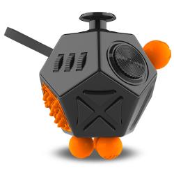 Fidget Cube antistress-leksak Svart/orange