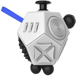 Fidget Cube antistress-leksak Vit/svart